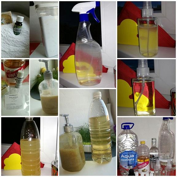 ekologické a doma vyrobené čistiace prostriedky
