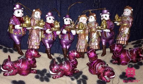 mačacie vianočné ozdoby